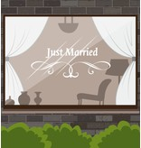 Jahrestag - Just married mit anmutigen Ornament