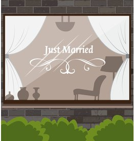 Anniversary - Just married with graceful ornament