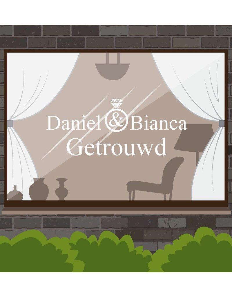 Hochzeitstag - Namen, die mit Diamantring