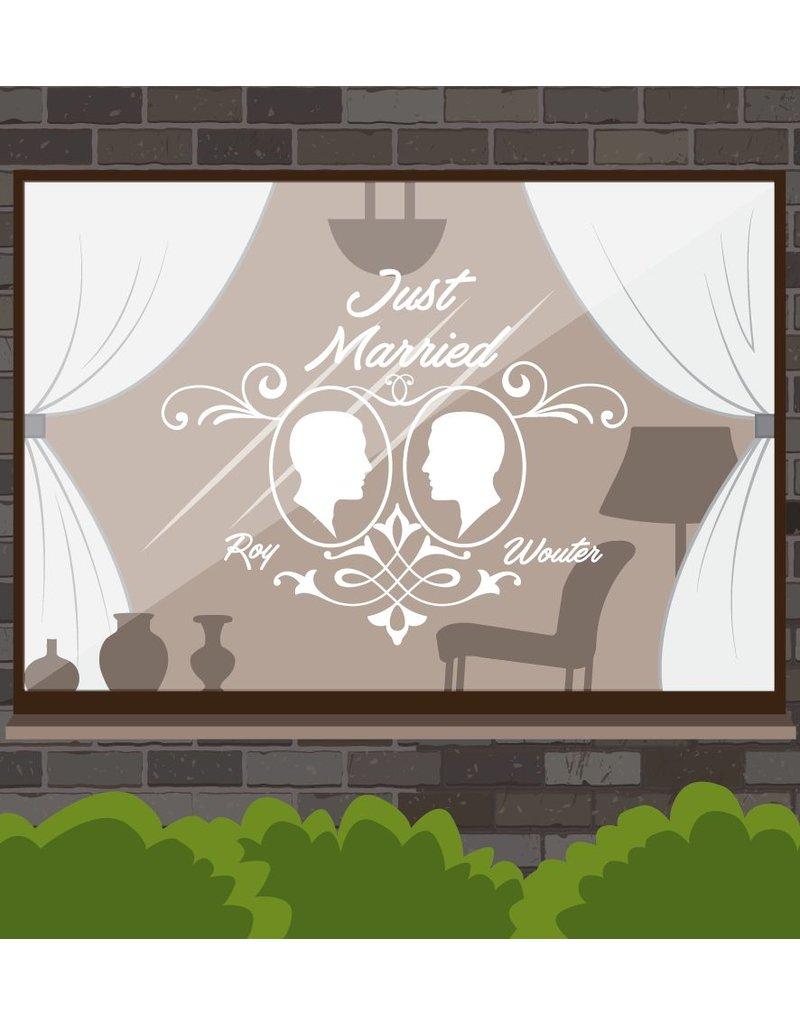 Jour de mariage - couple, 1 Encadrée