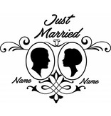día de la boda - par 2 Enmarcado