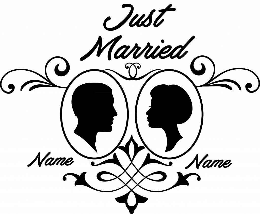 Jour de mariage - couple, 2 Encadrée