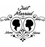 Jour de mariage - couple, 3 Encadrée