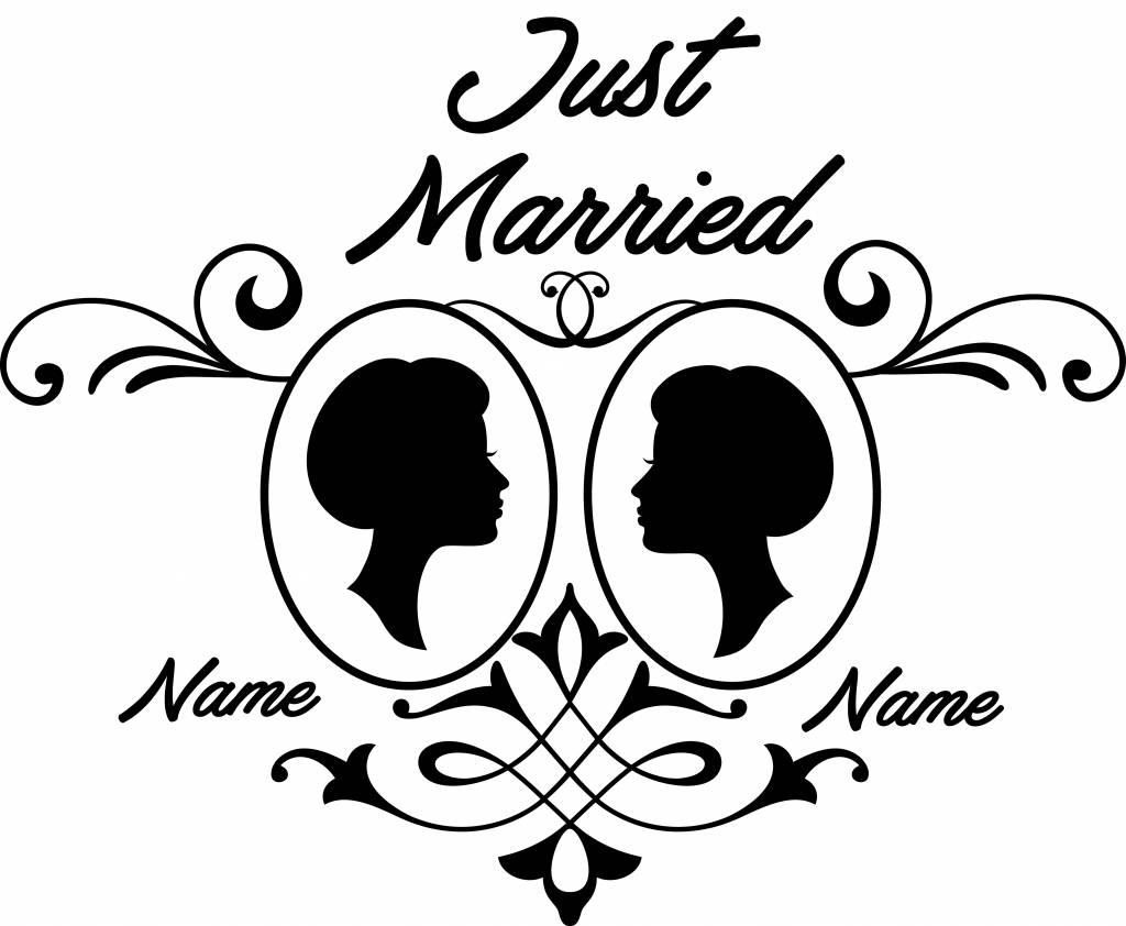 Hochzeitstag - Rahmen Paar 3 - Dr.Sticker