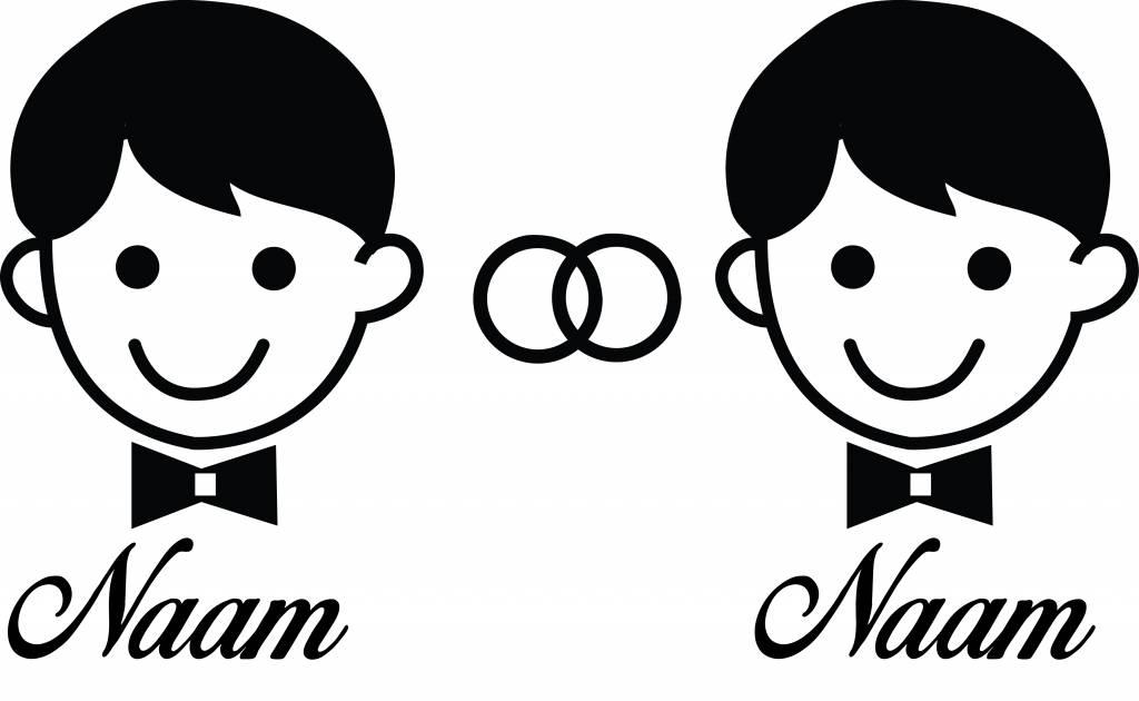 Jahrestag - Man & Mann mit Ringen