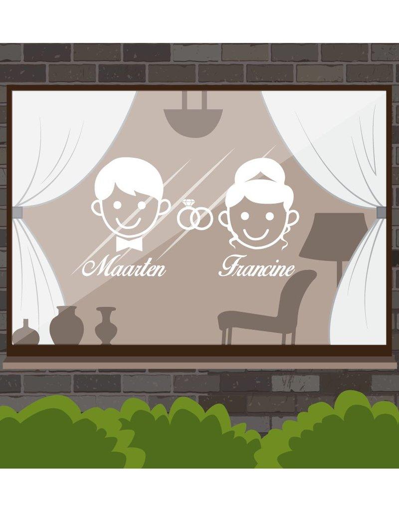Trouwdag - Man & vrouw met ringen