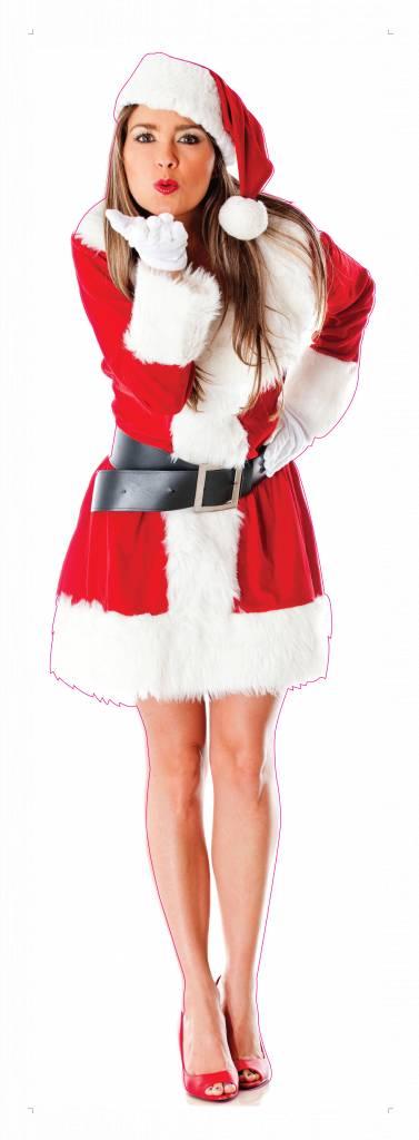 Femme de Noël XXL autocollant