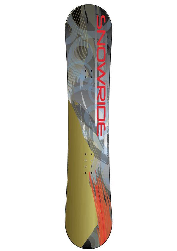 Snowride snowboard autocollant