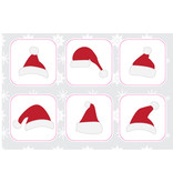 Christmas hats stickers
