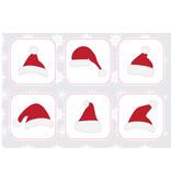 Pegatinas gorra de navidad