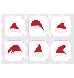 Kerstmutsen Stickervel