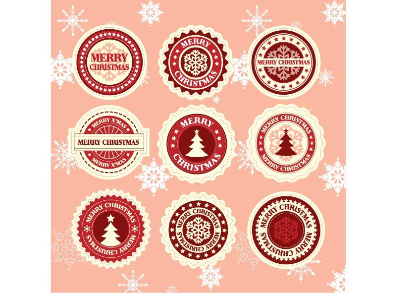 Autocollants Joyeux Noël 2