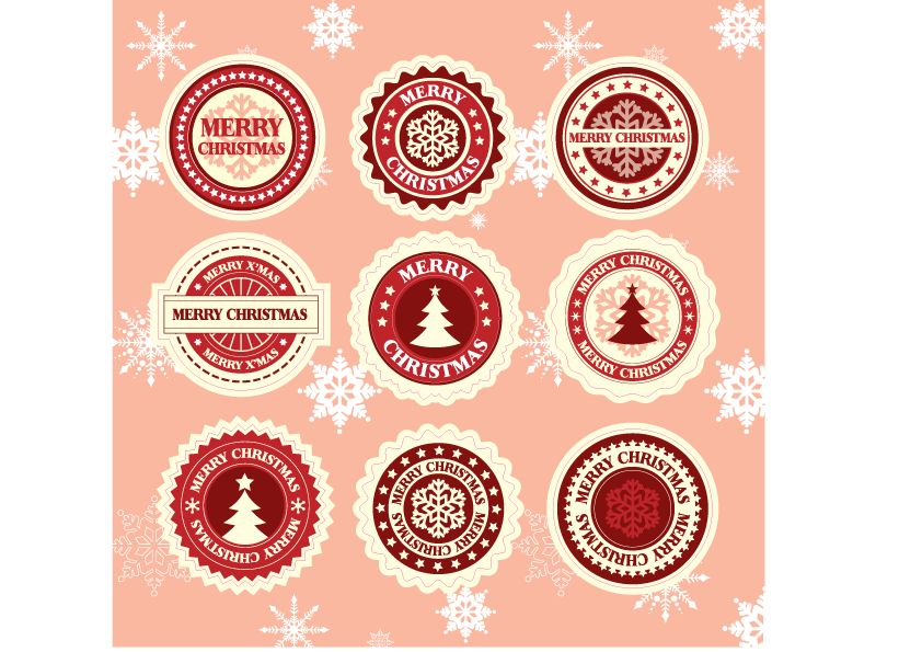 Merry Christmas 2 stickers