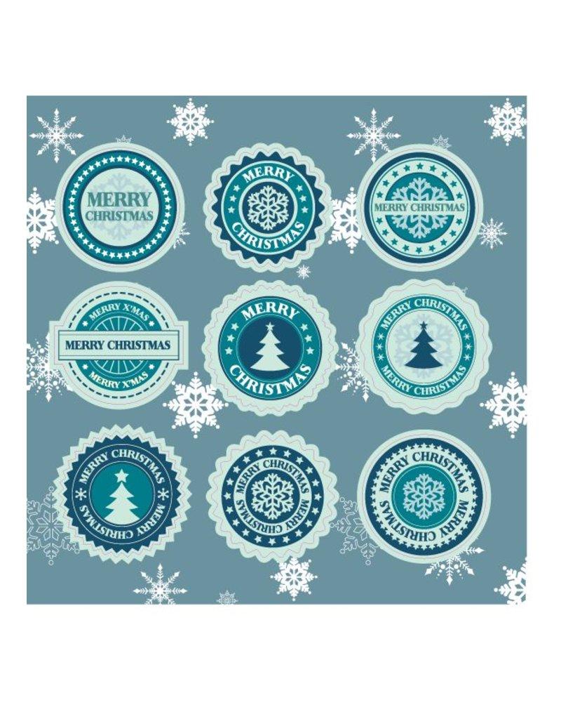 Frohe Weihnachten Stickervel