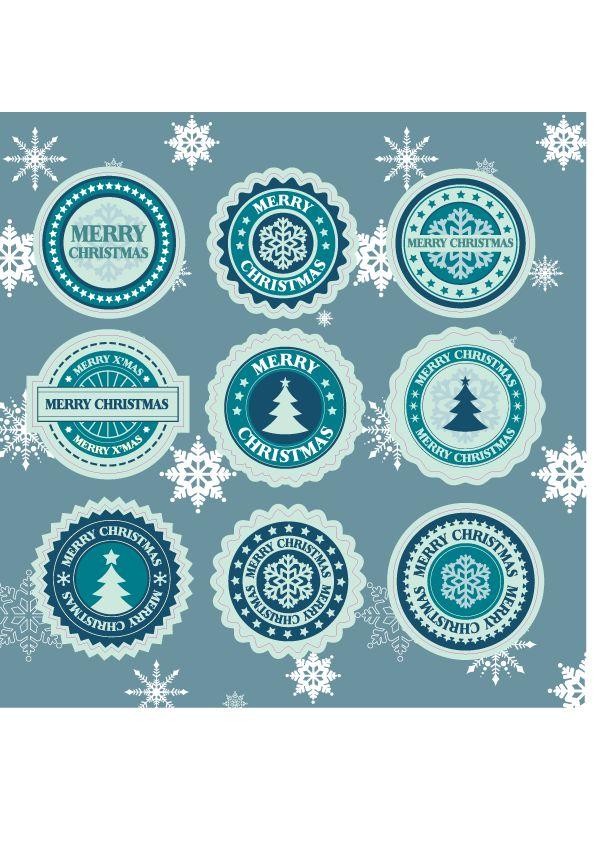 Merry Christmas Stickervel