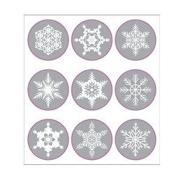 Kerst sneeuwvlokken Stickervel