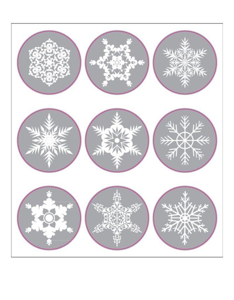 Christmas snowflakes stickers