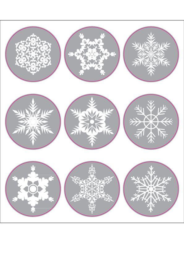 Schneeflocken Stickerbogen
