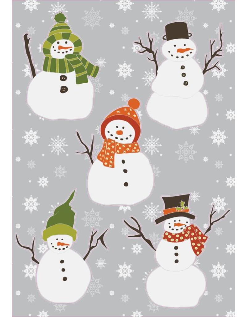 Kerst sneeuwpoppen Stickervel