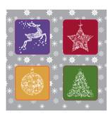 Kerst vierluik Stickervel
