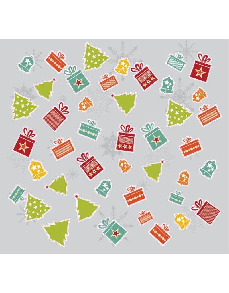 Kerst Stickervel