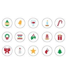 Kerst icoon Stickervel