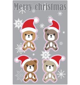 Kerstbeertjes Stickervel