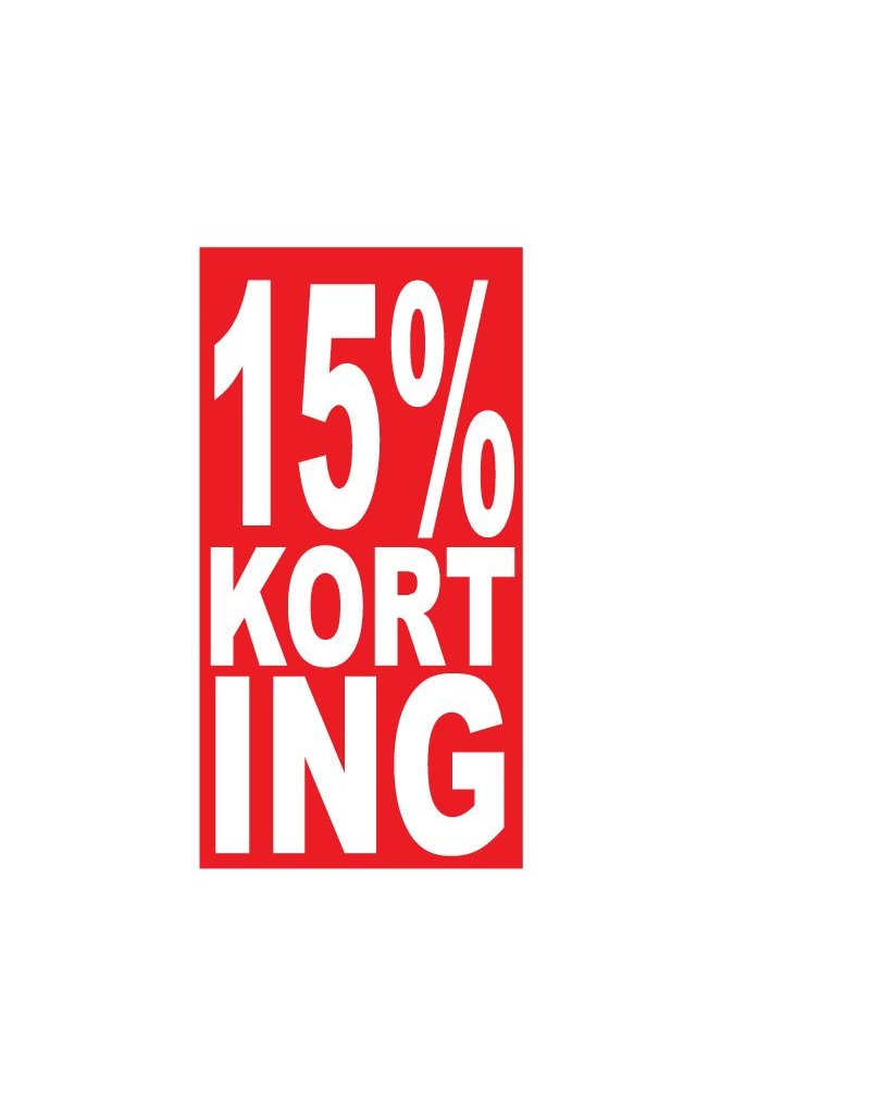 Rechthoekige 15% korting Sticker