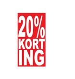 Autocollant rectangulaire 20% korting