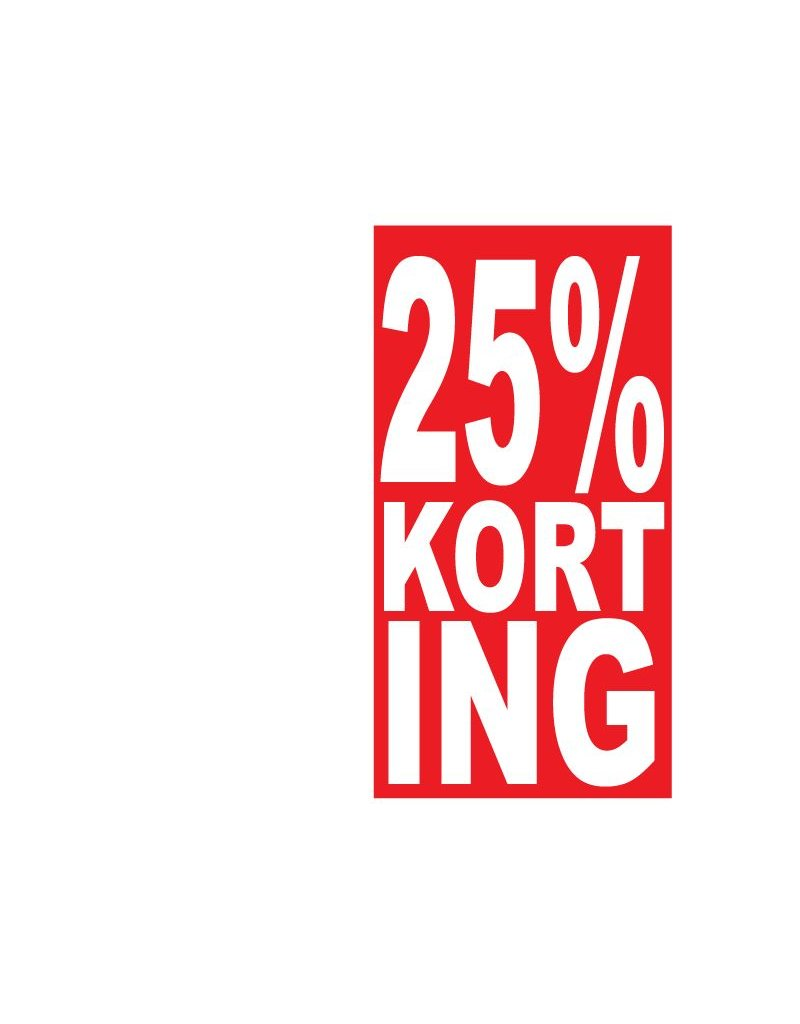 Rechthoekige 25% korting Sticker