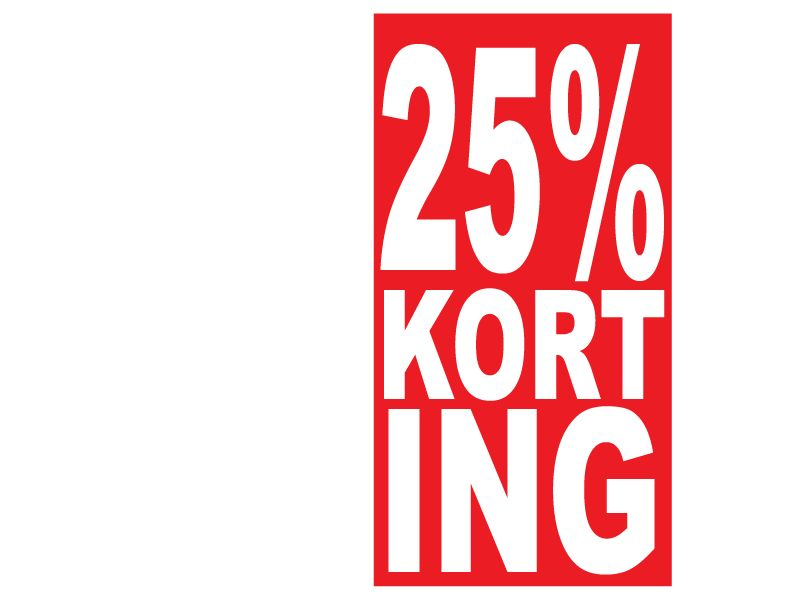Pegatina rectangular 25% descuento