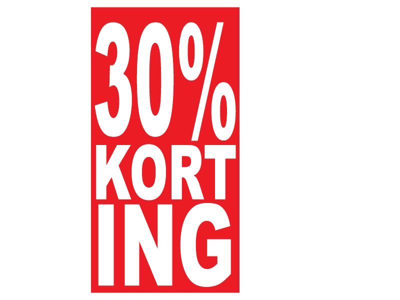 Autocollant rectangulaire 30% korting