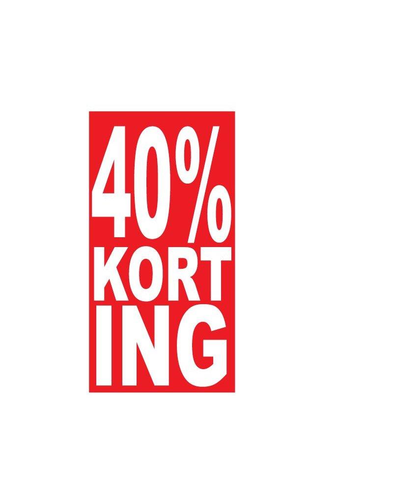 Pegatina rectangular 40% descuento