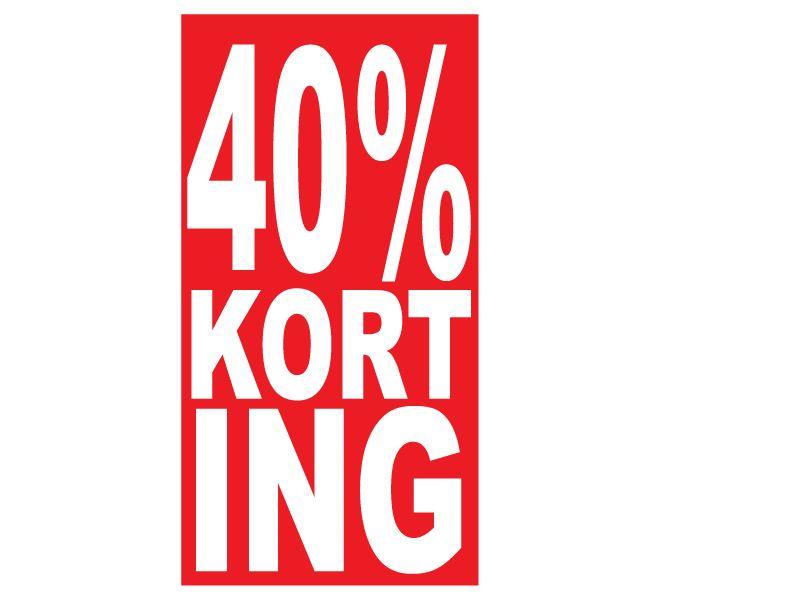 Rechthoekige 40% korting Sticker