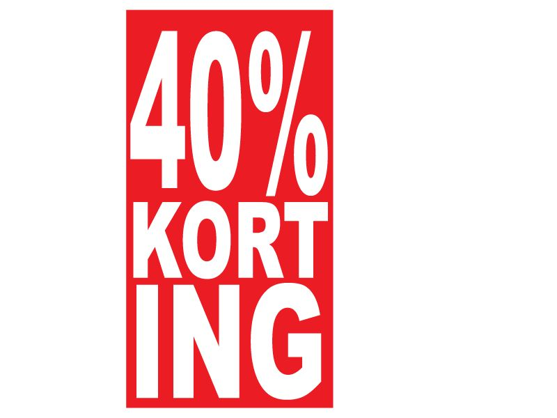Rectangular 40% sale Sticker