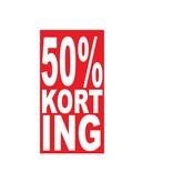 Rechthoekige 50% korting Sticker