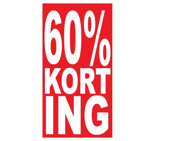 Rechthoekige 60% korting Sticker