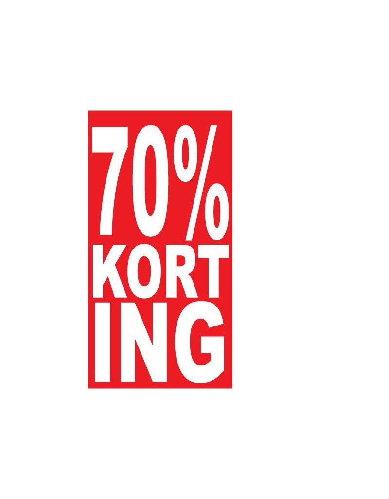 Rectangular 70% sale Sticker