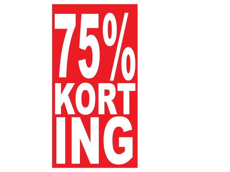 Rechthoekige 75% korting Sticker