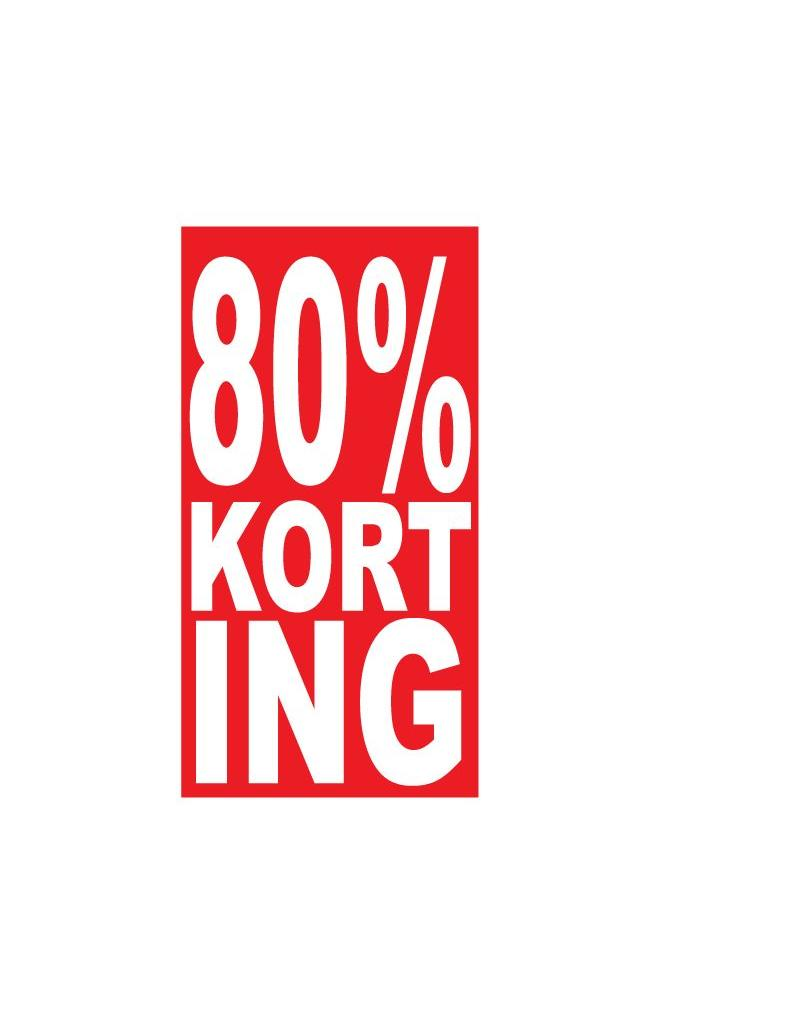 Rechthoekige 80% korting Sticker