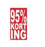 Rechthoekige 95% korting Sticker
