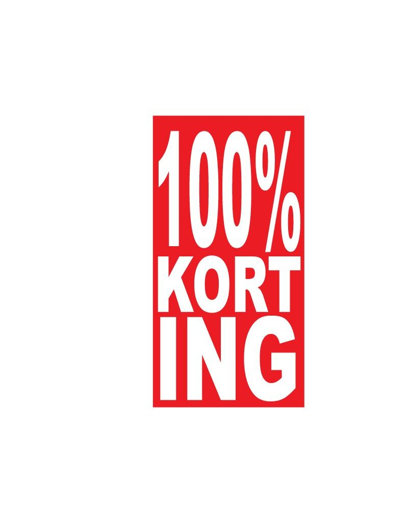 Rectangular 100% sale Sticker