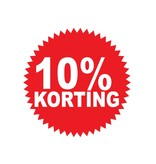 Autocollant circulaire 10% korting