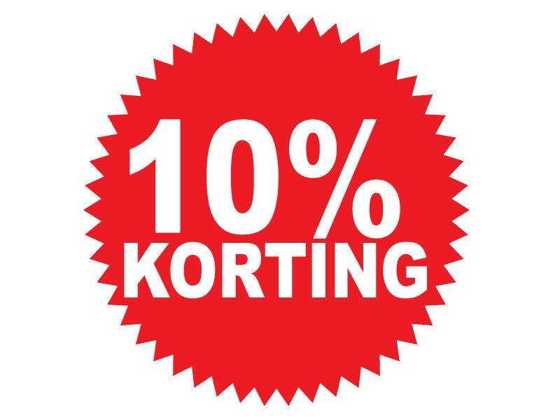 Pegatina redonda 10% descuento
