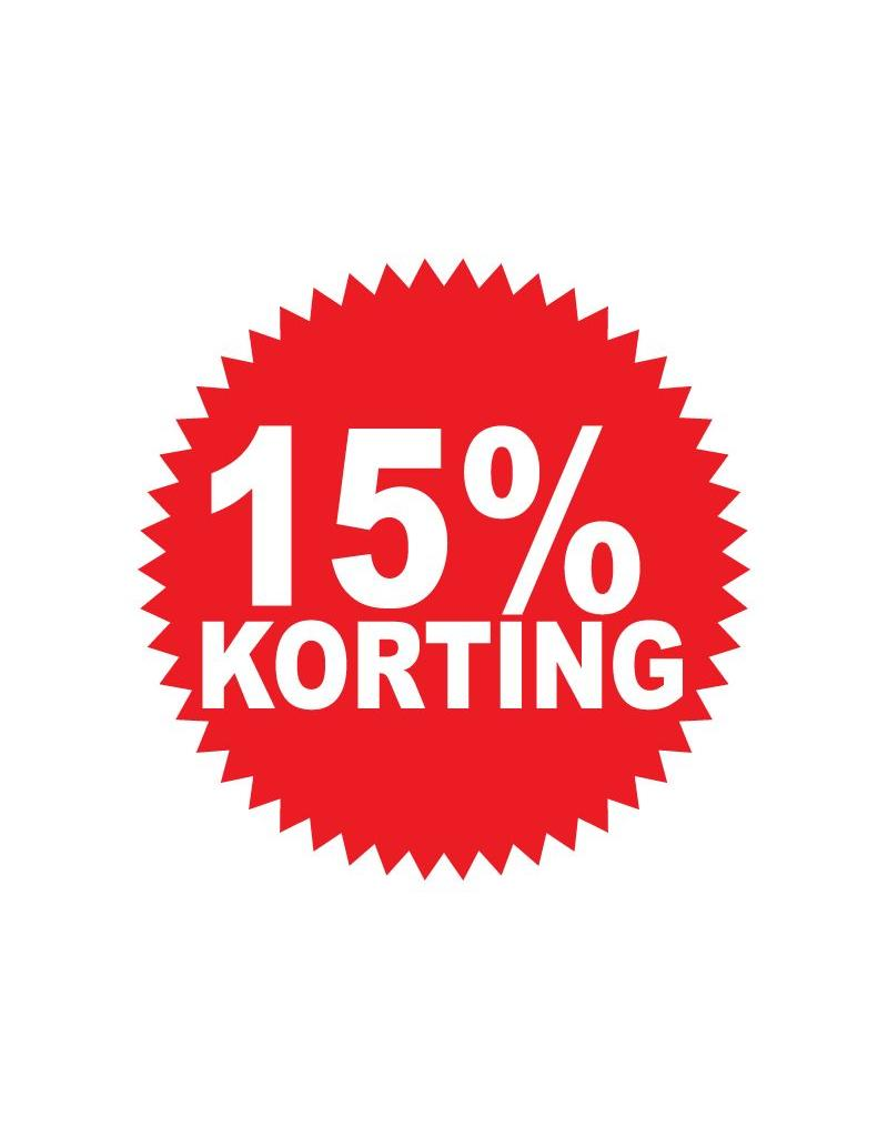 Autocollant circulaire 15% korting