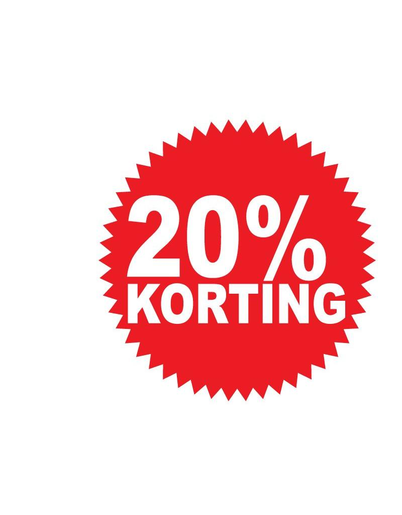 Autocollant circulaire 20% korting