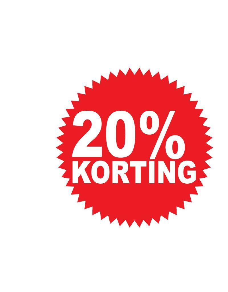 Ronde 20 Korting Sticker Dr Sticker