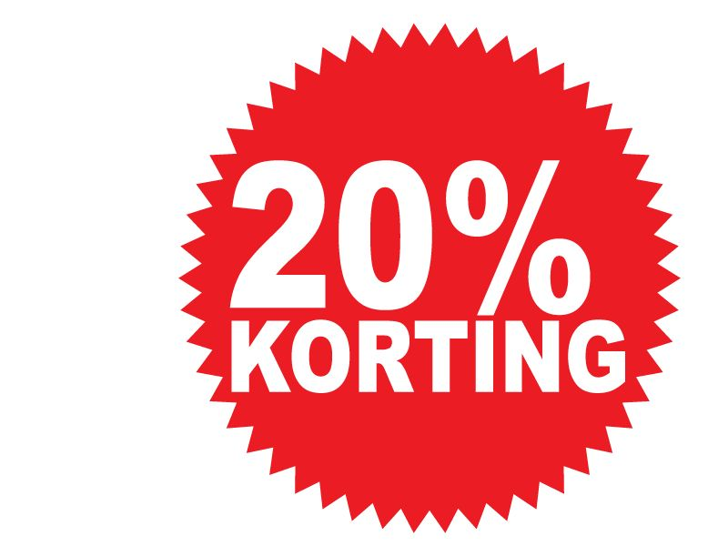 Autocollant circulaire 20% korting