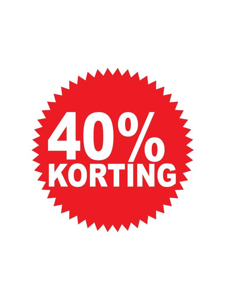 Autocollant circulaire 40% korting