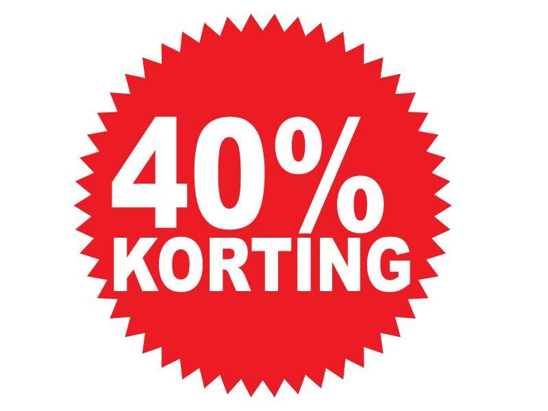 Pegatina redonda 40% descuento